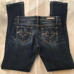 Rerock for Express Dark Blue Jeans. Size 8r. $50